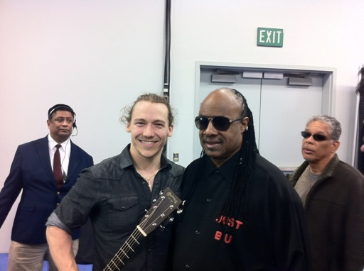 Shaun Hopper and Stevie Wonder